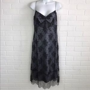 Elie Tahari 8 Blue Gray Black Lace